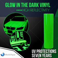 Glow In The Dark Reflective Vinyl Adhesive Cutter Sign 12 X15 Feet