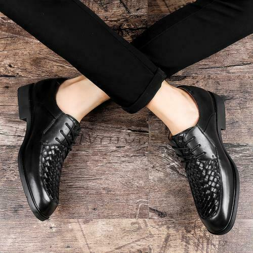 Details about  /Mens Black Dress Formal Business Leisure Shoes Pointy Toe Work Office Lace up L
