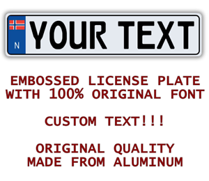 Details about NORWAY NORWEGIAN Custom Personalized European Car License  Plate Number Plate