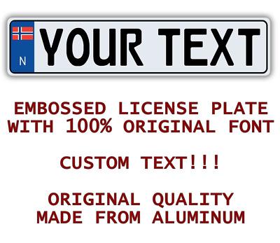 NORWAY NORWEGIAN Custom Personalized European Car License Plate Number  Plate | eBay