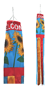 Welcome Sunflowers Shop Sign Advertising POS Flag Super 5' Windsock