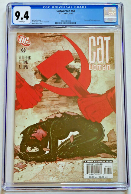 Catwoman #68 Adam Hughes Cover DC Comics 2007 CGC 9.4