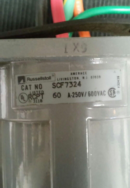 Russellstoll conector SCF7324 SCF7324 SCF7324 60A A-250V/600VAC 72b6d6