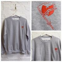 "Actual Fact Wu Tang Clan ""Protect Your Neck"" Heather Grey Hip Hop Sweatshirt"