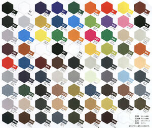 6 X Tamiya Acrylic Paints 10ml Pot Choose Your Colours And