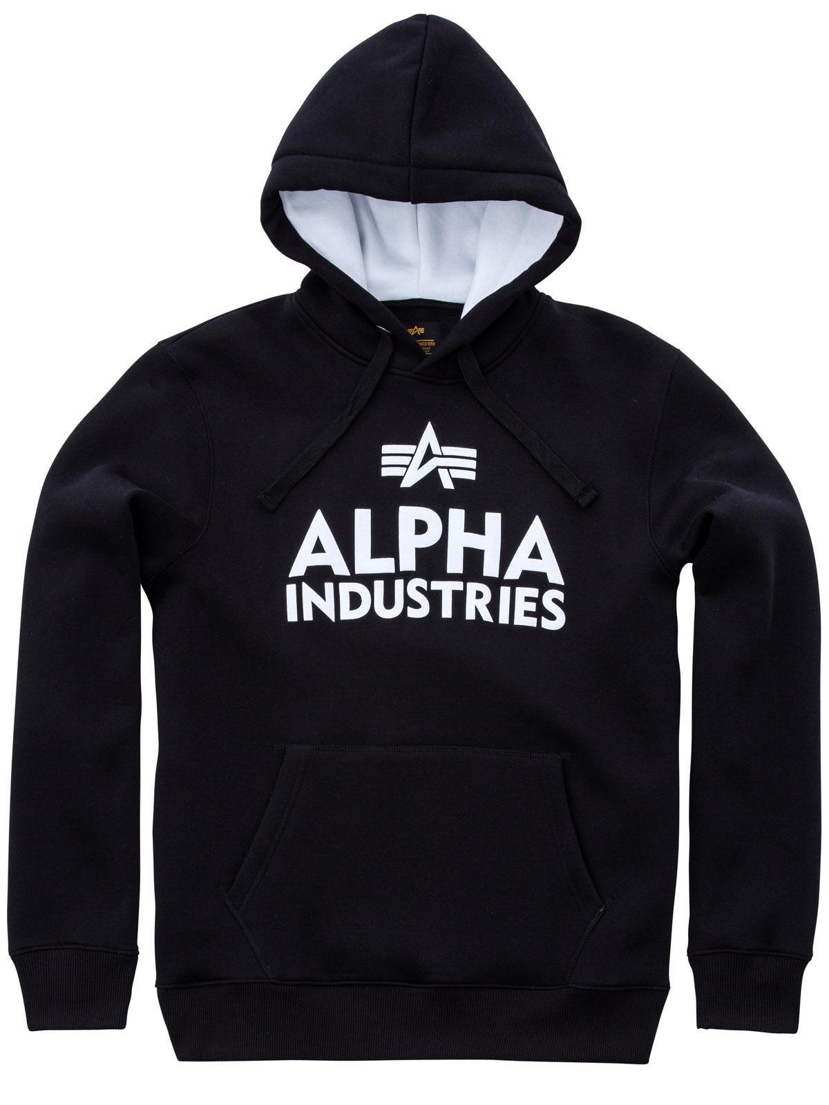 Alpha Industries Kapuzenpullover Foam Print Hoodie Schwarz 143302 95  6113