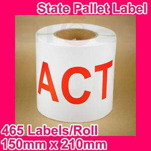 5-Rolls-of-State-Label-Pallet-Label-ACT-150mm-x-210mm-2325-Labels-in-total