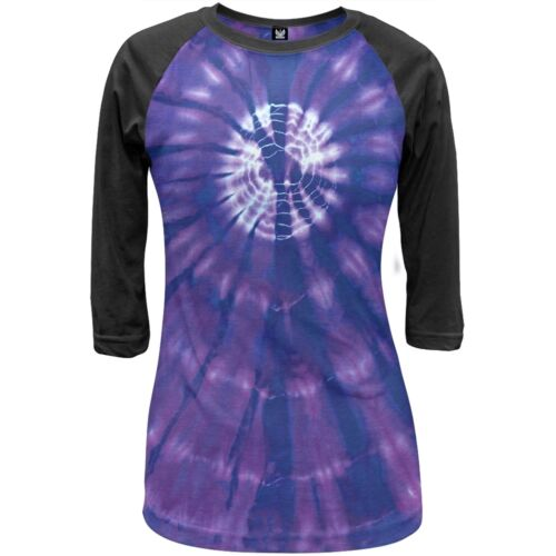 Purple Burst Tie Dye Juniors Raglan