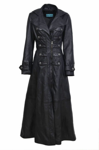 Kathrin Coat Black Jacket Full Nappa New Length Gothic Leather Edwardian Ladies dczz6q1
