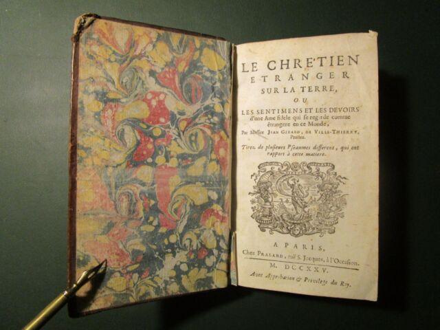 Le Chrétien étranger sur la terre, Jean GIRARD DE VILLETHIERRY (1725)