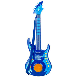 Blue-Kids-Electric-Guitar-Educational-Musical-Instrument-Toy-With-Lights-Music