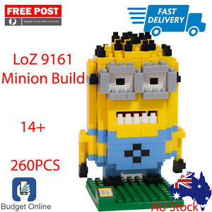 Brand-New-Loz-Minion-Buildable-Figures-9161-Lego-iBlock-Fun-Build-Ship-From-VIC