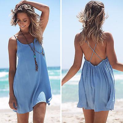 Boho Con Tirantes Para Dama Informal Suéter Verano Playa Bikini De Abrigo Camisa