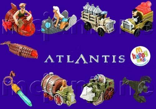 MIP SET 9 McDonald/'s 2001 ATLANTIS ATLANTEAN CRYSTAL Milo Kida Disney COMPLETE