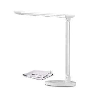 TaoTronics 12W Schreibtischlampe LED Tischleuchte Weiß  Touchbedienung USB A+