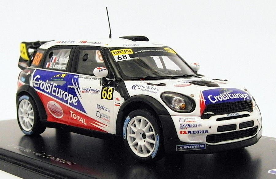 contador genuino Spark 1 43 Scale Scale Scale SF039 - Mini John Cooper Works WRC  68 France 2012