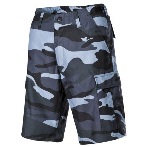 MFH US BDU Bermuda Shorts Hose CARGO POCKET Skyblue