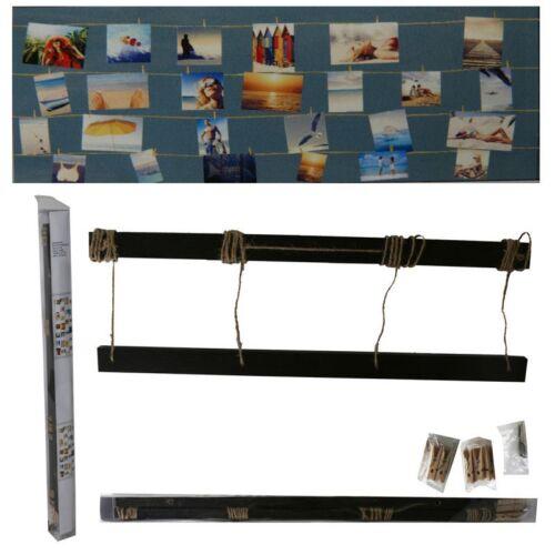 Fotoleine bois avec tricot et crochets L 70 cm photo images support fotoseil
