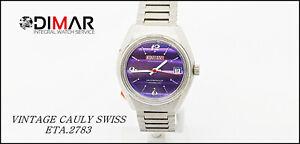 Vintage CAULY Swiss 1217- Incabloc- Waterproof - Cal. ETA.2783