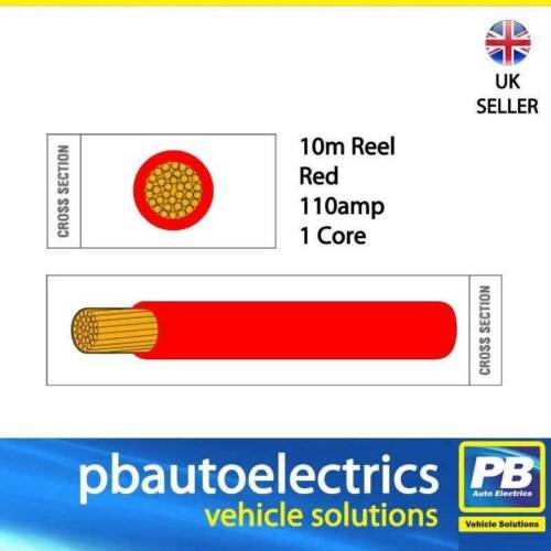 10m Red PVC Battery Welding Cable 110 amp 1 Core Round Auto Cable PVC16R