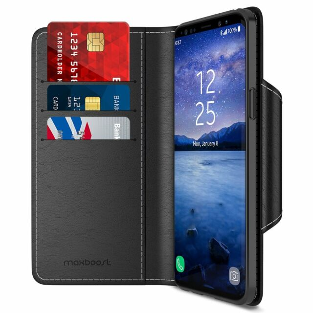 For Samsung Galaxy S9 Case Flip Folio Wallet Card Slot W Stand Protective Cover