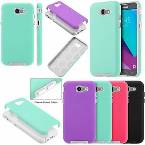 sports shoes 8139b 9b81c Details about For Samsung Galaxy J3 Luna Pro Rubberized Anti-Slip Hybrid  Rubber Case Cover