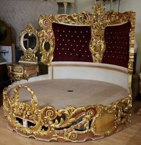 Baroque-bed-rococo-round-luxe-gouden-MkBd2000