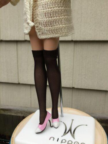 brown mesh socks for Fashion Royalty Doll FR FR2 Barbie Silkstone Poppy Parker