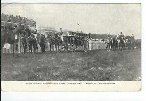 CI-450-Ireland-Dublin-Leopardstown-Races-Majesties-Arrival-Divd-back-Postcard