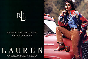 Details about 1997 Ralph Lauren navajo Ines Rivero fashion clothing  MAGAZINE AD