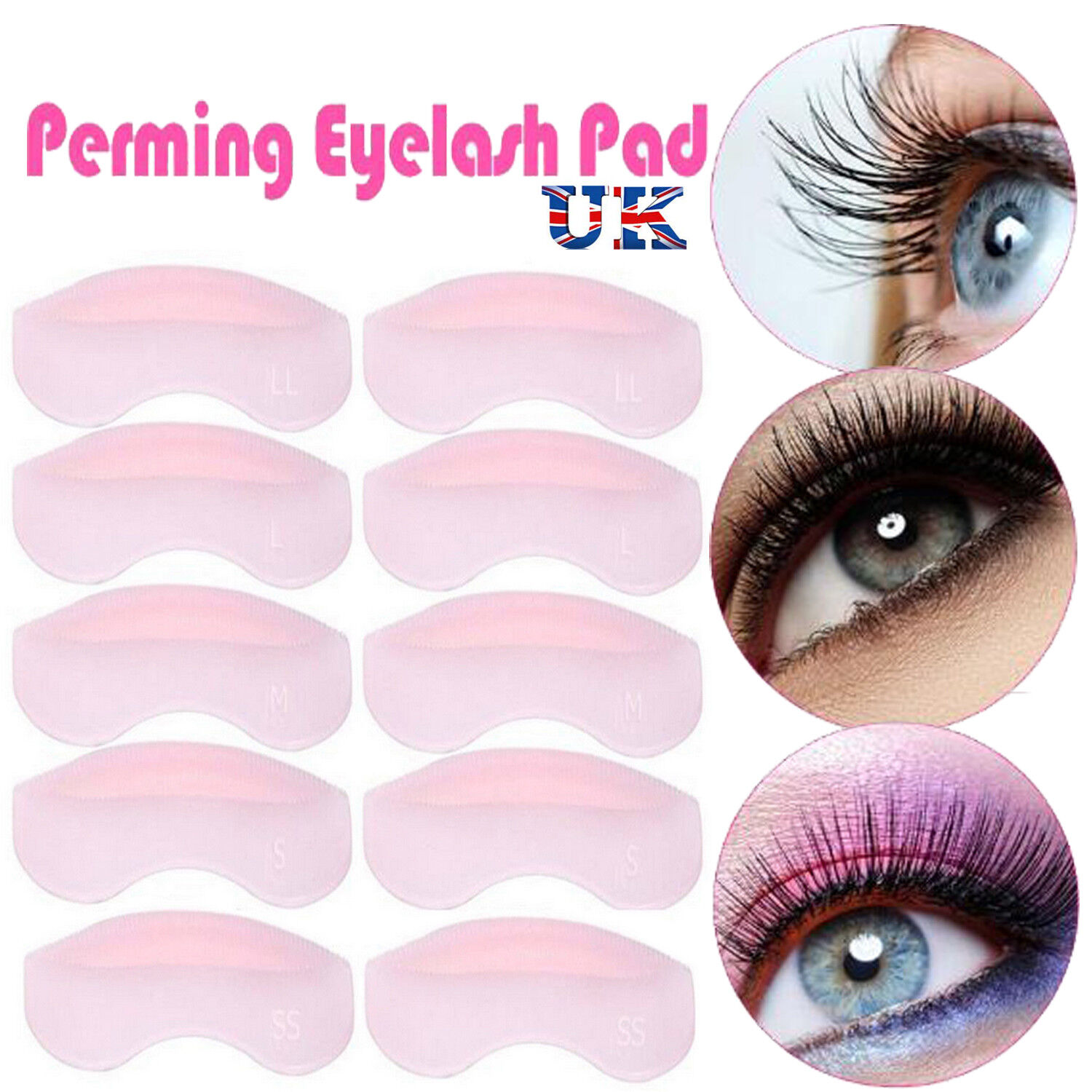 Galaxy Beauty 5 Pairs Silicone Eyelash Perming Curler Shield Pads