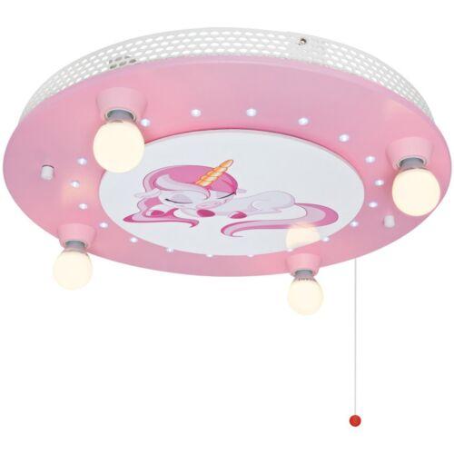 Deckenleuchte Deckenlampe Kinderzimmer Einhorn 4xE14 und LED  ELOBRA