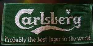 Beer-Towels-Mancave-Bar-Mats-Vintage-Carlsberg-Lager-Bar-Towel-2002-NEW