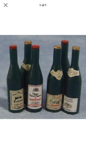 Fab Miniature Red Wine Bottle Fun Alcohol Doll House Drink elf barbie Mini Gin