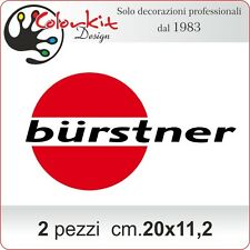 Scritta adesiva camper Burstner cm.20x11,2 (2 pezzi) - by Colorkit-Cod.001330