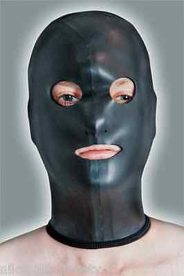 Pelle Liscia Maschera In Neoprene Con Bocca - & Apertura Occhi Protezione Viso-mask Handmade--mask Handmade It-it Mostra Il Titolo Originale