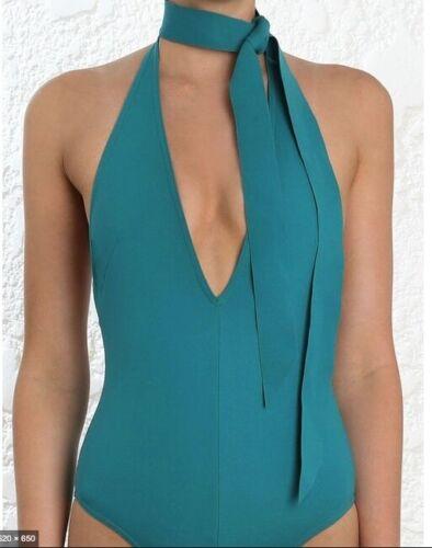 Low Back Neck Tie Swimsuit$350 RRP Zimmermann Sculpt Tie One pieceLow V