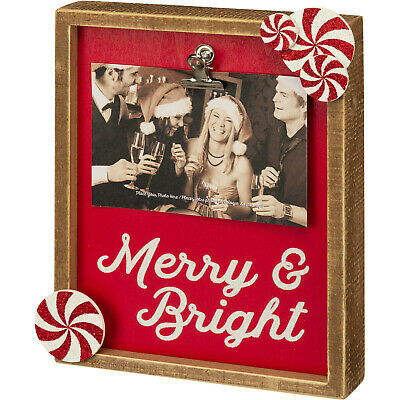 Primitives by Kathy Soul Sisters Photo Frame with Metal Clip to Secure Photo