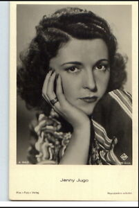 JENNY-JUGO-Schauspielerin-Osterreich-um-1950-60-Portraet-AK-Film-Buehne-Theater