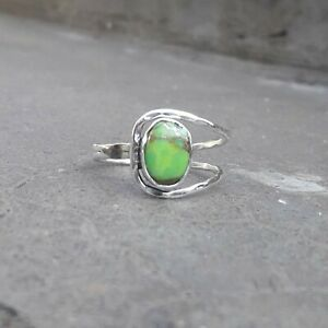 Green-Turquoise-Solid-925-Sterling-Silver-Anxiety-Ring-Meditation-Ring-SR035