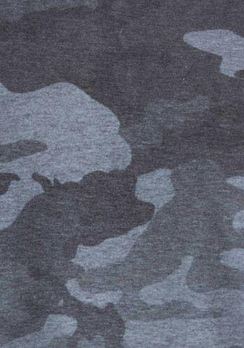 4XL Large Big Mens Plus Size Camo Combat T Shirt Top Grey BNWT Size XL