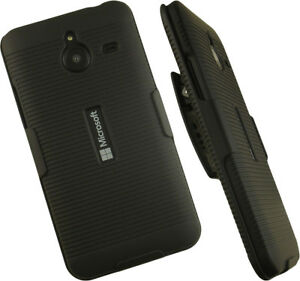 low priced 7973e ae182 Details about NEW BLACK HARD CASE COVER + BELT CLIP HOLSTER STAND FOR  MICROSOFT LUMIA 640 XL