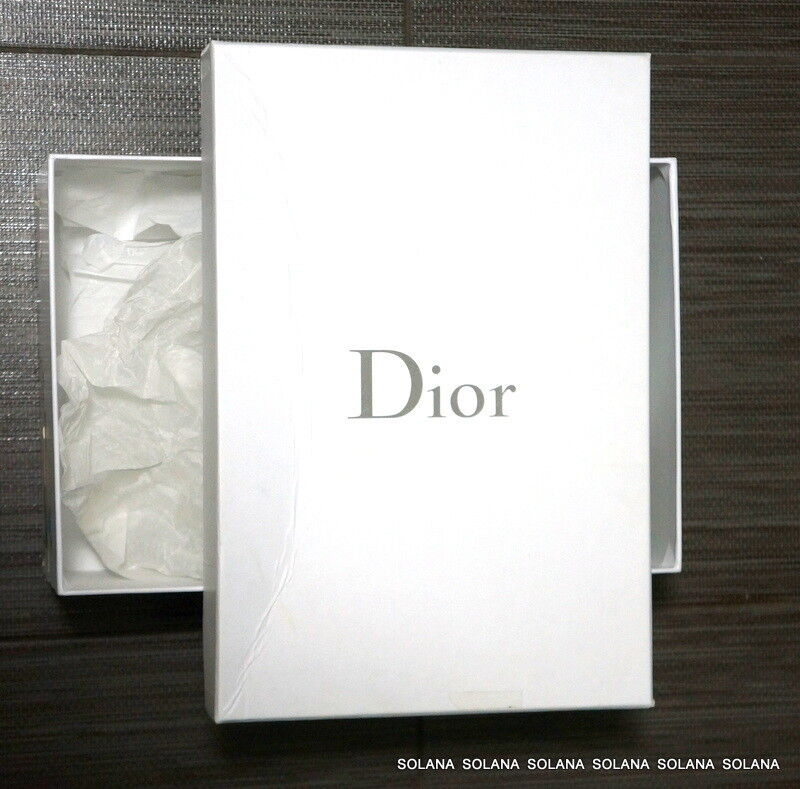 Dior Empty White Shoe Box for Authentic Wedge Platform Flats Sandals Authentic for 9a83ef
