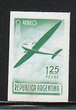 XXA 113) Argentinien:Flugpostmarke geschnitten,Druck auf Rückseite o.G.!2 Scans!