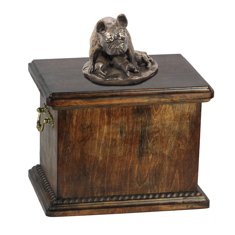 Bouledogue français tipo 2 - urna di legno con l'immagine di un cane Art Dog IT