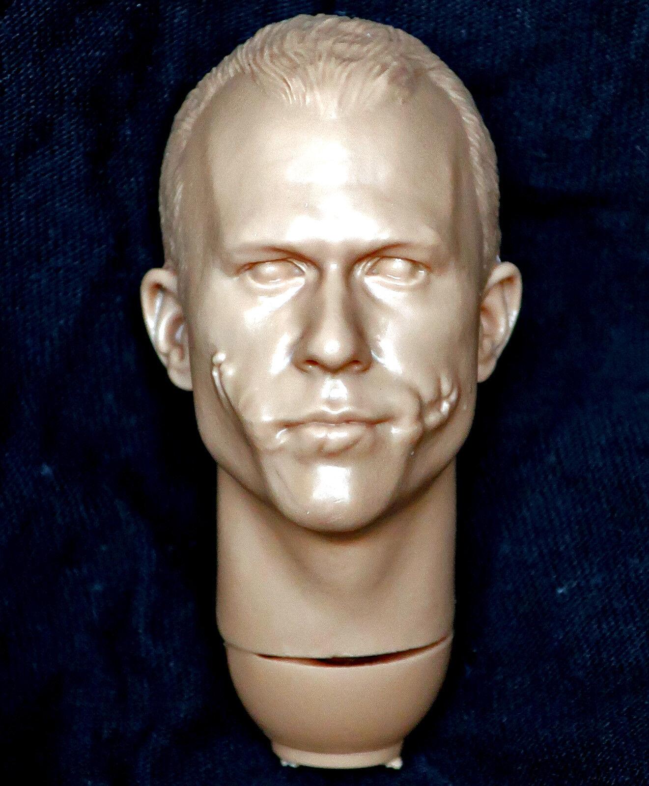 1 6 Escala Escultura de cabeza sin Pintar Figura De Acción Guasón Dark Knight DX Adam Bobby