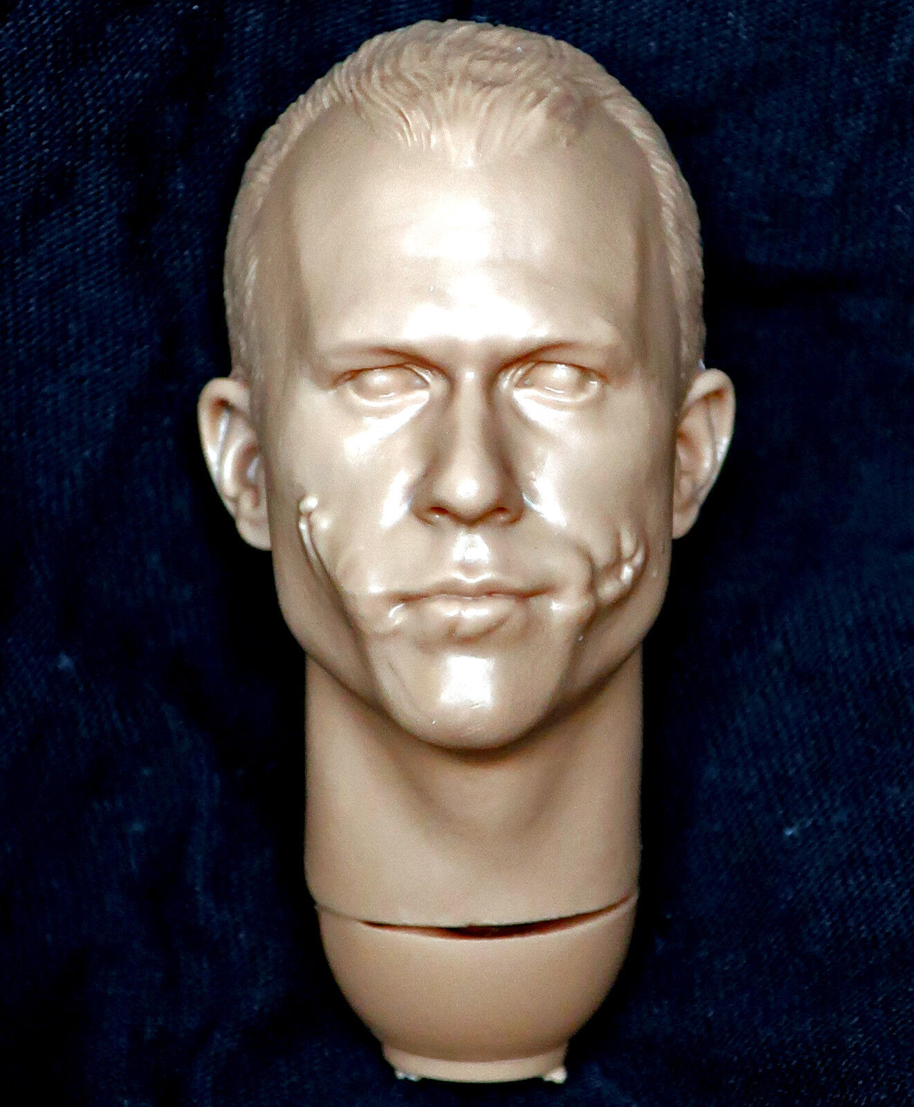 1 6 scale unpainted action figure head sculpt joker dark knight DX adam bobby