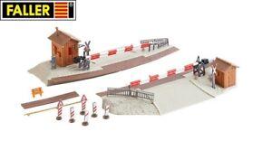 Faller-H0-120172-Beschrankter-Bahnuebergang-NEU-OVP
