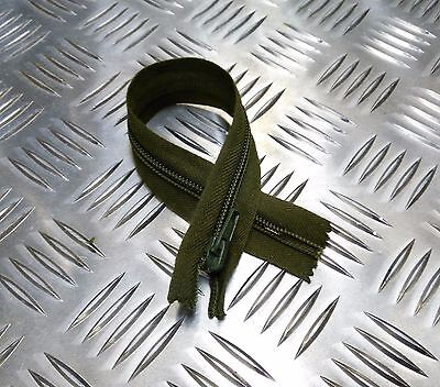 "Discreet Originale Inglese Militare Opti 8 "" A Fondo Chiuso Verde Zip/cerniera Resistente Crafts Other Art Supplies"