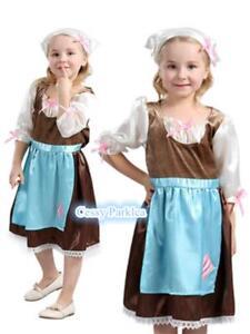 Image is loading Girls-Victorian-Maid-Costume-Child-History-Fancy-Dress-  sc 1 st  eBay & Girls Victorian Maid Costume Child History Fancy Dress Kids Book ...